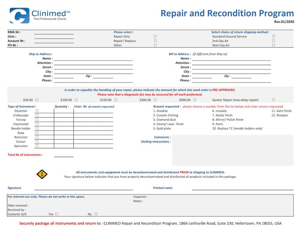 Repair-Recondition-Form