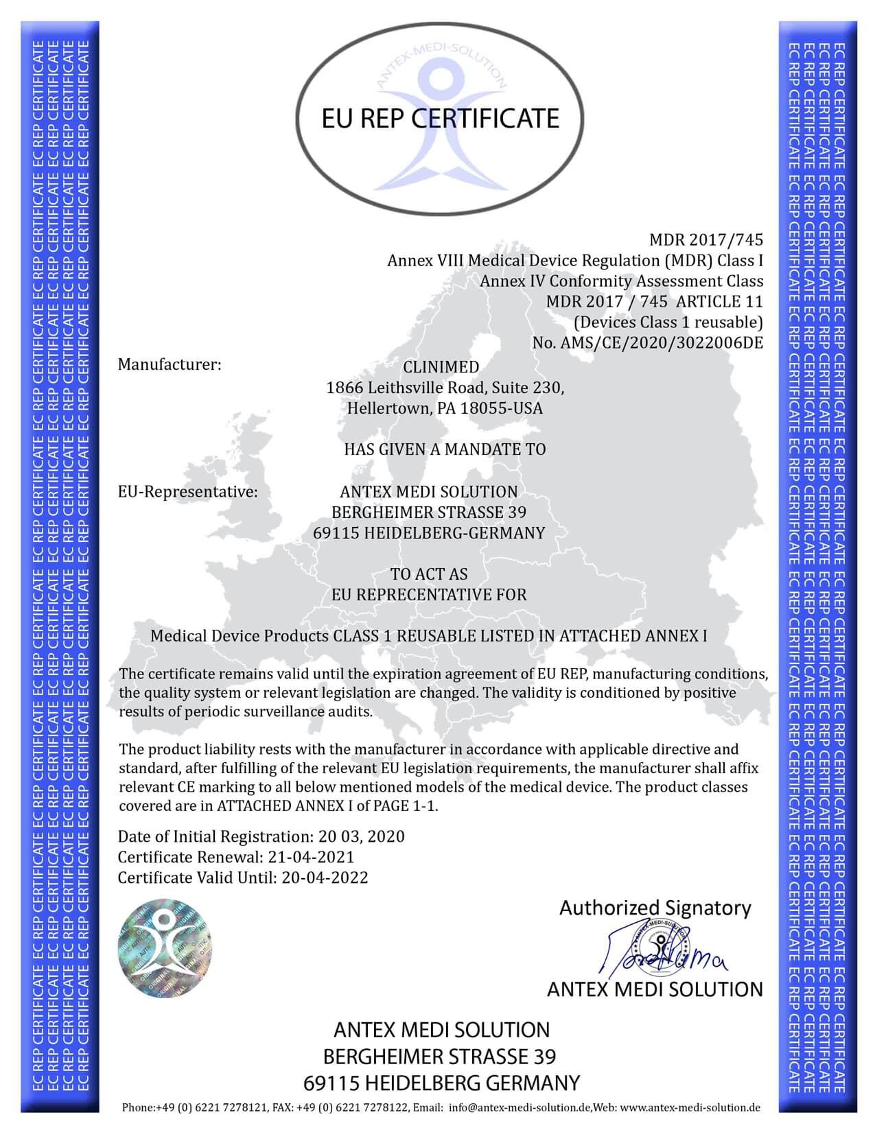 CLINIMED-USA-EC-Certificate-Page